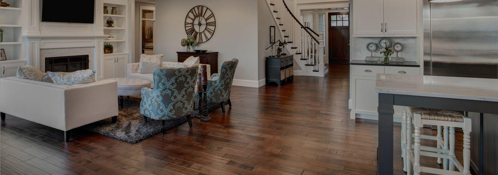Impression Floors Kelowna BC | Dining Room With Beaulieu Engineered Hardwood Flooring